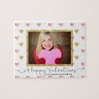 Valentines Day Glitter Heart Script Photo - Puzzle