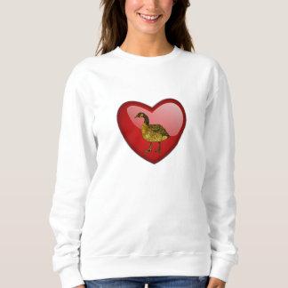 Valentine's Day Goose ;) Sweatshirt