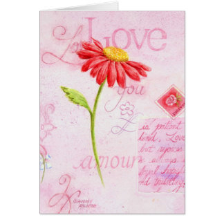Valentine's Day Greeting Card Love Letters Daisy
