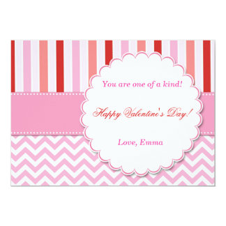Valentines Day Greeting Card Pink Red 13 Cm X 18 Cm Invitation Card