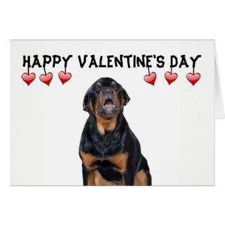 Valentine's Day Grumpy Rottweiler Card