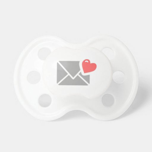 Valentine's Day Heart and Envelope Baby Pacifier