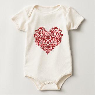 Valentine's Day Heart Baby Bodysuit