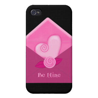Valentines Day Heart Be Mine Envelope 4 Cas iPhone 4/4S Cover
