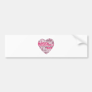 Valentine's day heart bumper sticker