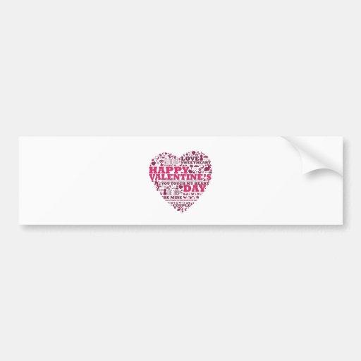 Valentine's day heart bumper sticker