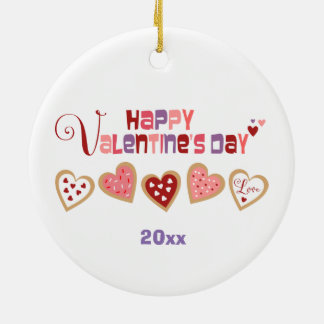 Valentine's Day Heart Cookies Baby Ornament