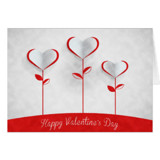Valentine's Day - Heart Flowers Card