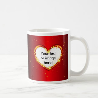 Valentines Day Heart Glowing Embers Sparkles Frame Mug