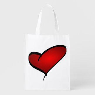 Valentine's Day Heart Reusable Bag