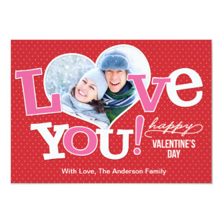 Valentine's Day Heart Shaped Photo 13 Cm X 18 Cm Invitation Card