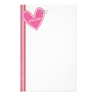 Valentine's Day Heart Stationery