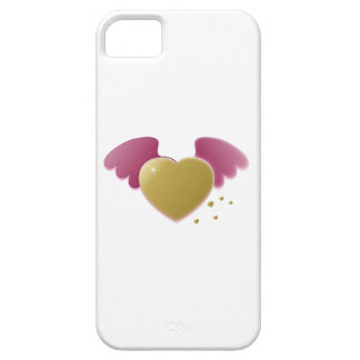 Valentine's Day Heart with Wings iPhone 5 Cases