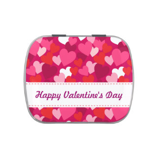 Valentine's Day Hearts Candy Tin