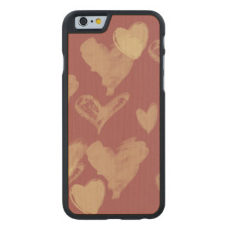 Valentines day hearts carved® maple iPhone 6 case
