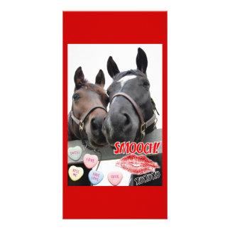 Valentine's Day Horses Photo Cards