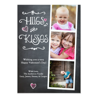 Valentine's Day Hugs & Kisses Heart 13 Cm X 18 Cm Invitation Card