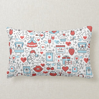 Valentine's Day Icons throw pillows