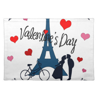 Valentine's day in Paris Placemats