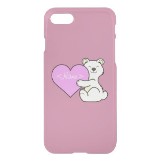 Valentine's Day Kermode Bear with Light Pink Heart iPhone 7 Case