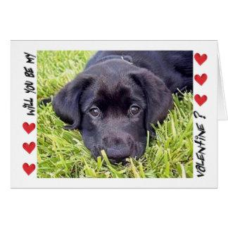 Valentine's Day Labrador Puppy Be Mine Card