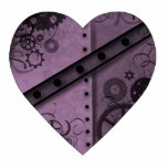 Valentine's Day lavender and black steampunk Photo Sculpture Magnet