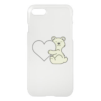 Valentine's Day Light Yellow Bear with Cream Heart iPhone 7 Case