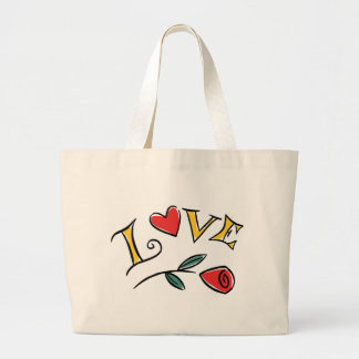 Valentine's Day Love Canvas Bags