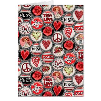 Valentine's Day Love Bottle Caps Card