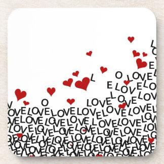 Valentine's Day Love Cork Coaster
