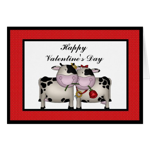 Valentine's Day Love Cows Greeting card
