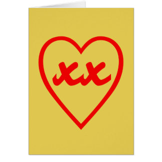 Valentines Day Love Heart Kisses Card