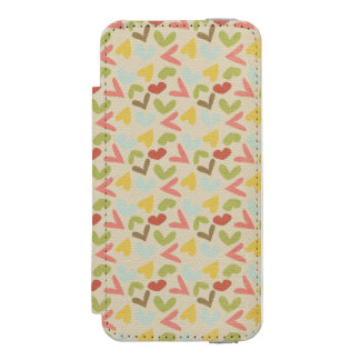 Valentines day love hearts colorful pattern incipio watson™ iPhone 5 wallet case