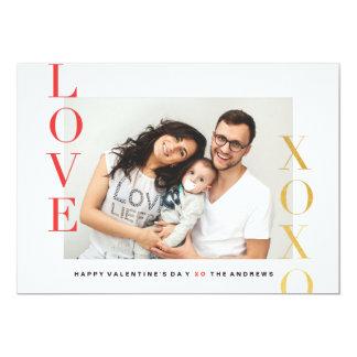 Valentine's day love photo card 13 cm x 18 cm invitation card