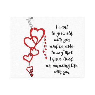 Valentine's Day love quote Canvas Print