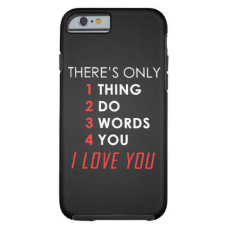 Valentines day LOVE Tough iPhone 6 Case