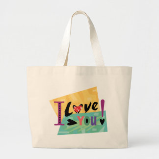 Valentine's Day Love You Canvas Bags