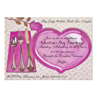 Valentine's Day Luncheon Invitation