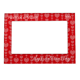 Valentine's Day Magnetic Frame Cascading Hearts