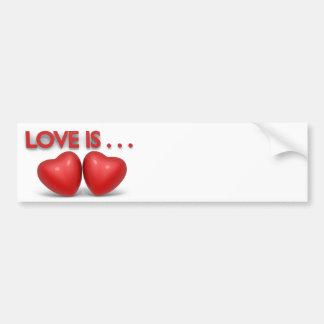 Valentine's Day message Bumper Sticker