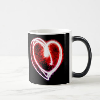 Valentine's Day mug with glowing red heart