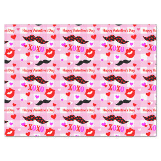 Valentine's Day Mustaches and Lips Tissue Paper
