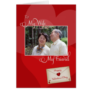 Valentine's Day, My Wife- Photo card template