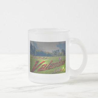 Valentines Day on the grass, mug