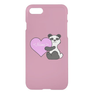Valentine's Day Panda Bear with Light Pink Heart iPhone 7 Case