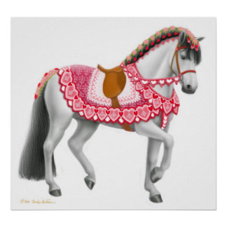 Valentines Day Parade Horse Poster