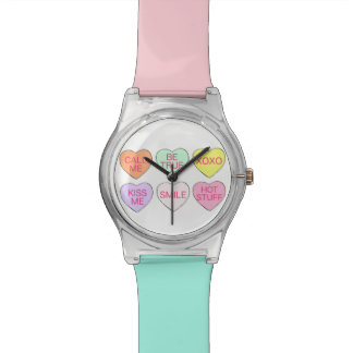 Valentine's Day Pastel Candy Heart Hearts Watch