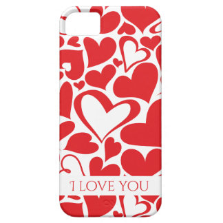 Valentine's Day pattern with red hearts Case For The iPhone 5