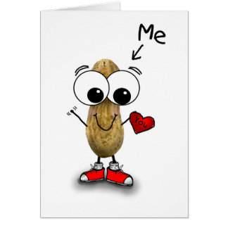 Valentine's Day Peanut Me and You Card