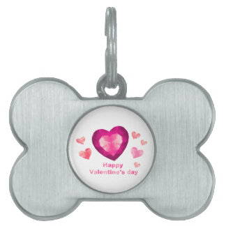 Valentine's day Pet Tag
